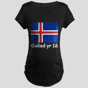 Gwlad yr Ia Maternity T-Shirt