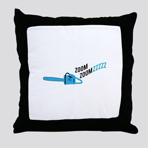 Chainsaw Zoom Throw Pillow