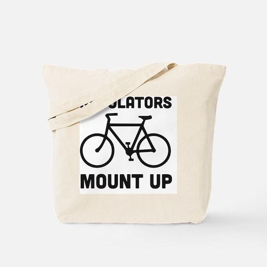 Cute Mens bicycle Tote Bag