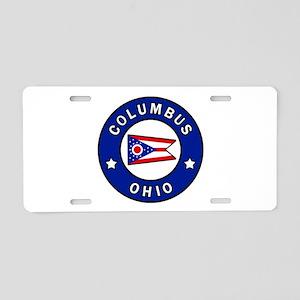 Columbus Ohio Aluminum License Plate