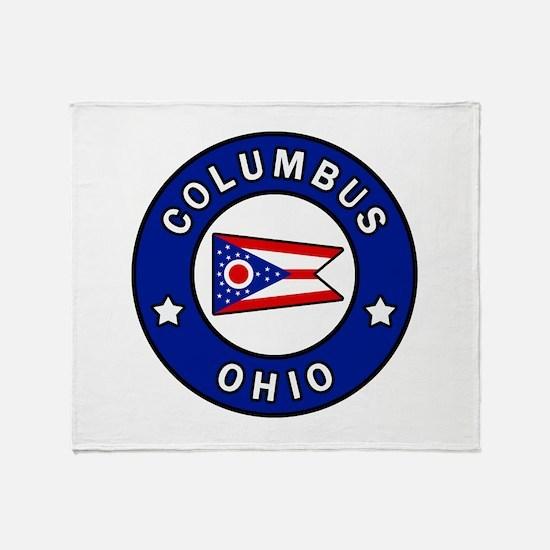 Columbus Ohio Throw Blanket