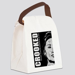 Crooked Hillary Clinton Canvas Lunch Bag