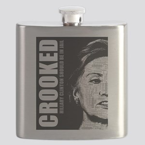 Crooked Hillary Clinton Flask