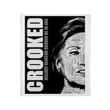 Crooked Hillary Clinton Throw Blanket