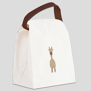 Brown Alpaca Canvas Lunch Bag