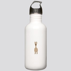 Brown Alpaca Stainless Water Bottle 1.0L
