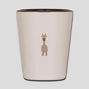 Brown Alpaca Shot Glass