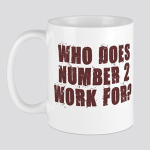 NUMBER 2 SHIRT POOP HUMOR AUS Mug