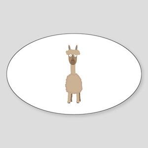 Brown Alpaca Sticker