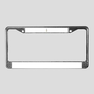 Brown Alpaca License Plate Frame