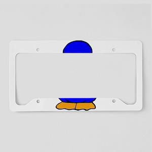 Blue Baby Duck License Plate Holder