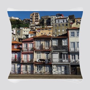 Homes Of Porto Woven Throw Pillow