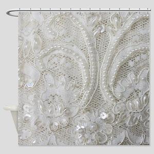 Bridal Lace Shower Curtains