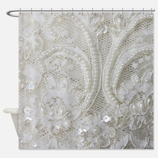 Cool Lace Shower Curtain