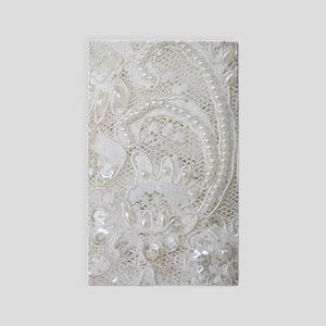 boho chic white lace Area Rug