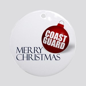 Merry Coast Guard Christmas Ornament (Round)