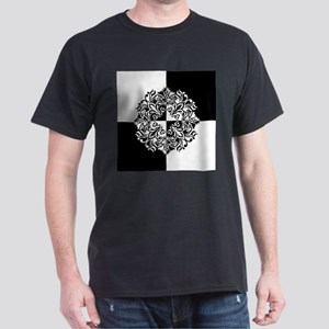 Black and White Decorative T-Shirt