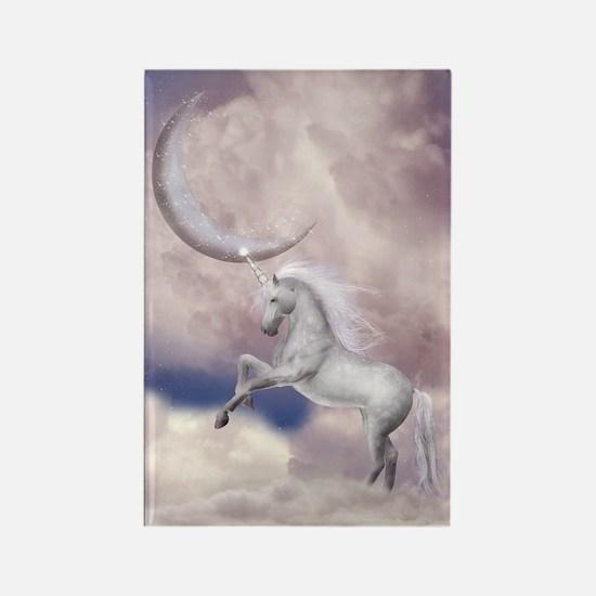 Magic Moon Unicorn Rectangle Magnet