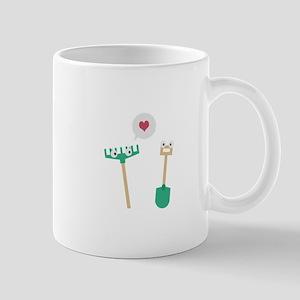 Spade and Rake in love Mugs