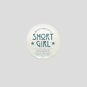 Short Girl Mini Button