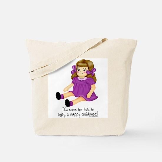 Purple - Rag Doll Tote Bag