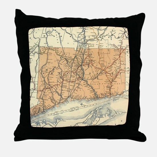 Unique Connecticut Throw Pillow