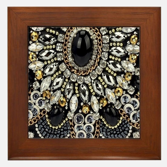 Cute Black diamond Framed Tile