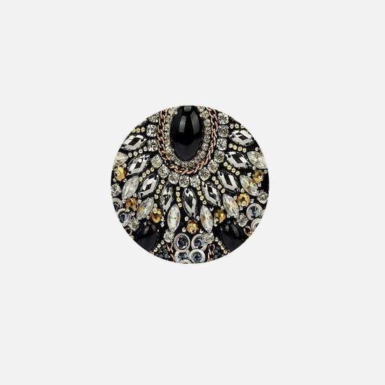 Cute Black diamond Mini Button