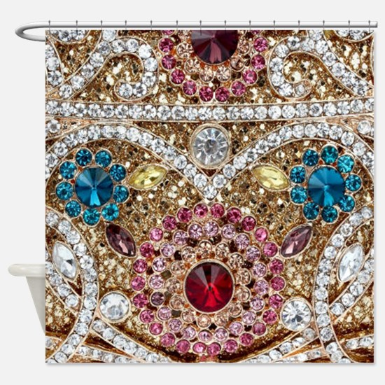 Unique Bling bling Shower Curtain