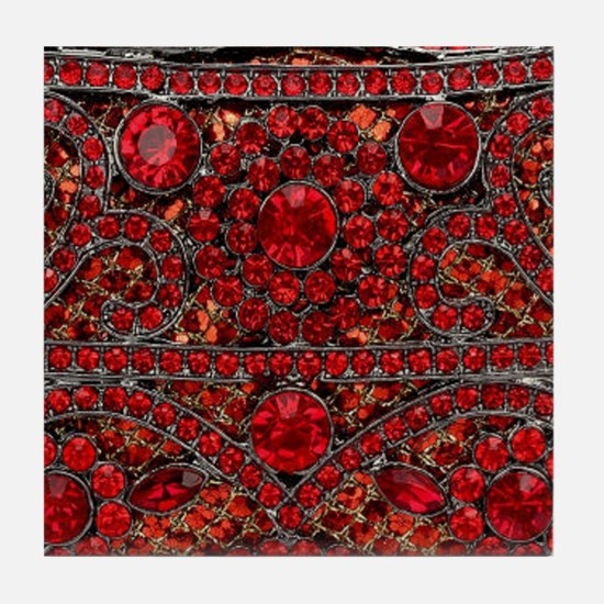 Cute Red roses Tile Coaster