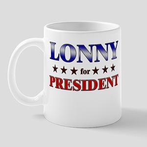 LONNY for president Mug