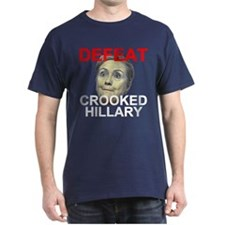 Defeat Crooked Hillary Dark T-Shirt