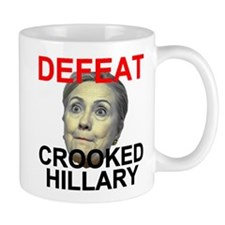 Defeat Crooked Hillary Mug