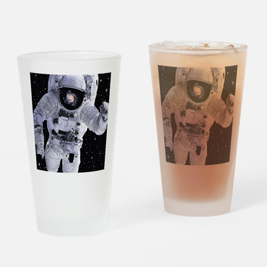 Funny Astronaut Drinking Glass