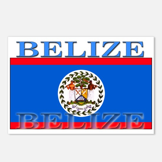 Belize Belizean Flag Postcards (Package of 8)