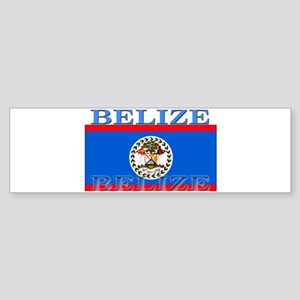Belize Belizean Flag Bumper Sticker