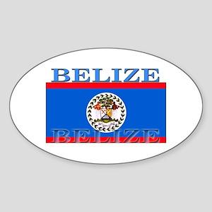 Belize Belizean Flag Oval Sticker