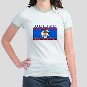 Belize Belizean Flag Jr. Ringer T-Shirt