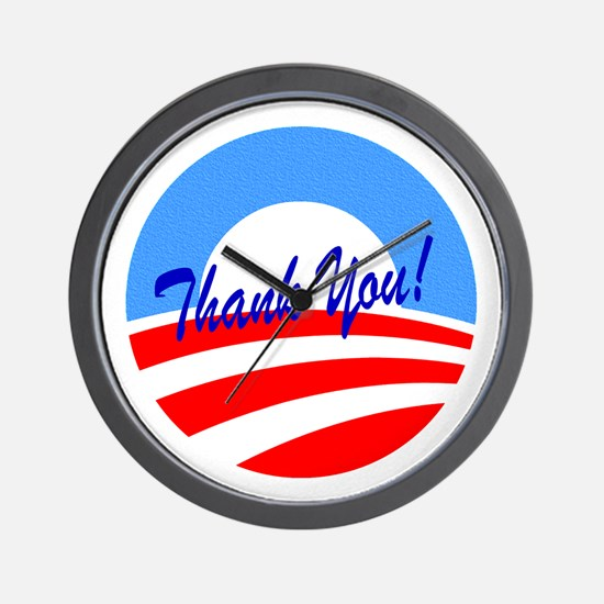 Thank You Obama Wall Clock