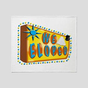 We Eloped Sign Throw Blanket