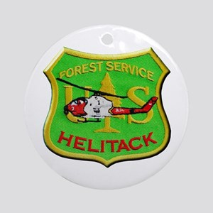 Forest Service Helitack Round Ornament