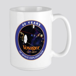 Voyager At 40! Large Mug Mugs
