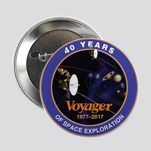 "Voyager At 40! 2.25"" Button"