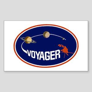 Voyager Program Logo Sticker (rectangle)