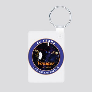 Voyager At 40! Aluminum Photo Keychain