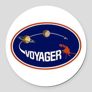 Voyager Program Logo Round Car Magnet