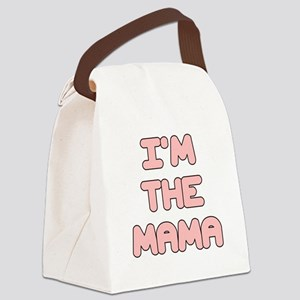 IM THE MAMA IN PINK Canvas Lunch Bag