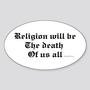 Religion Oval Sticker
