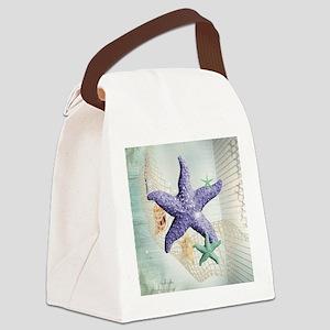 Beach Treasure of The Sea Canvas Lunch Bag