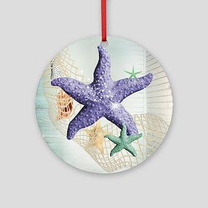 Beach Treasure of The Sea Round Ornament